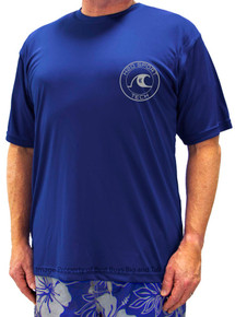 Royal Blue H2O Sport Tech Short Sleeve Swim Shirt