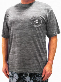 Gray Heather H2O Sport Tech Short Sleeve Swim Shirt