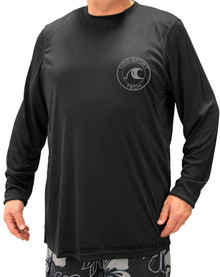 Black H2O Sport Tech Long Sleeve Swim Shirt