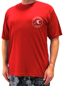 Red H2O Sport Tech Short Sleeve Swim T-Shirt