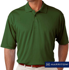 Dark Green Harriton Performance Cool Dry Polo