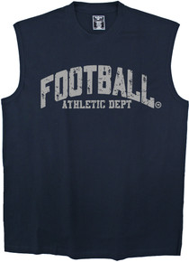 Navy plus size mens clothing 4XL muscle tee FOOTBALL print