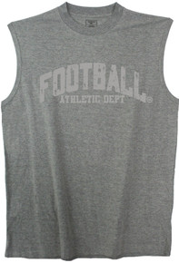 big and tall Gray 3XL muscle tee FOOTBALL print