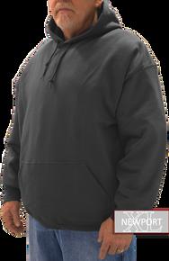 big tall man black pullover hoodie