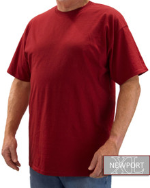 Burgundy NewportXL Short Sleeve T-Shirt