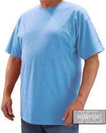 Light Blue NewportXL Short Sleeve T-Shirt