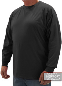Black NewportXL LONG SLEEVE T-Shirt