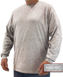 Heather Gray NewportXL LONG SLEEVE T-Shirt
