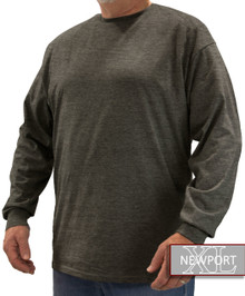 Heather Charcoal NewportXL LONG SLEEVE T-Shirt