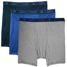 X-Temp Longer Length Boxer Briefs by Hanes - Assorted Colors 3-PACK