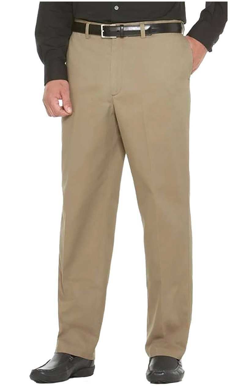 Savane Men/'s Big /& Tall Men/'s Flat Front Stretch Ultimate Performance Chino