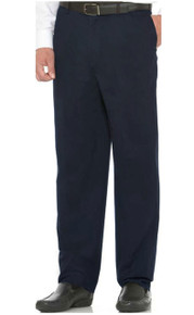 Navy Savane CASUAL PANTS Expandable Waist FLAT FRONT - Ultimate Performance