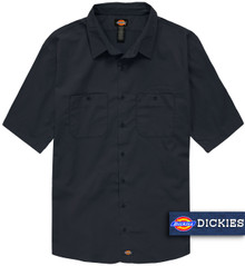 Navy Dickies Lightweight WorkTech Ventilated Shirt