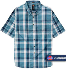 Dickies Lightweight Woven Plaid Shirt BLUE