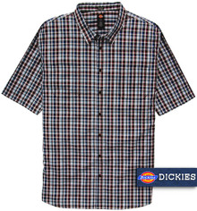 Dickies Lightweight Woven Plaid Shirt BLUE/Red