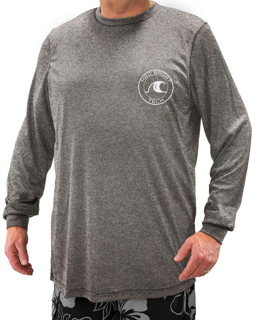 H2O Sport Tech Swim Shirt Long Sleeve Royal 4XLT #908D