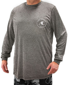DARK HEATHER GRAY Long Sleeve Swim Shirt