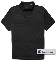 Black Champion Performance Polo Shirt