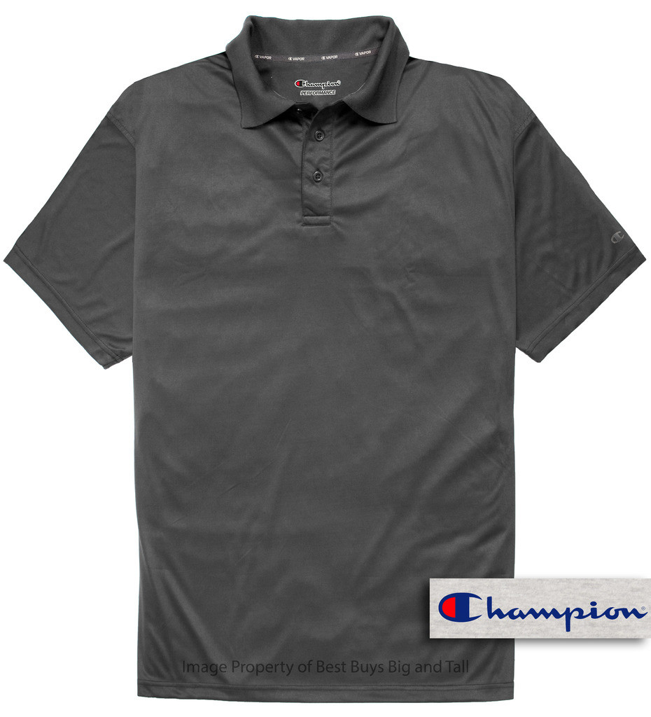 Champion Performance Charcoal Polo For Big And Tall Men