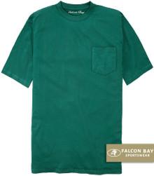 Teal Green Falcon Bay 100% Cotton Pocket T-Shirt