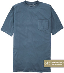 Medium Blue Falcon Bay 100% Cotton Pocket T-Shirt