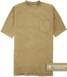 Khaki Beige Falcon Bay 100% Cotton Pocket T-Shirt
