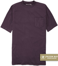 Plum Purple Falcon Bay 100% Cotton Pocket T-Shirt
