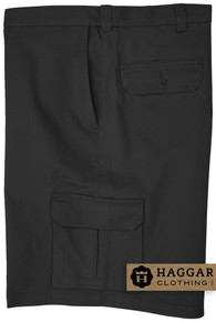 Black Haggar Cargo Shorts with Expandable Waistband