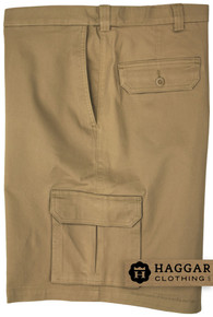 Haggar Cargo Shorts with Expandable Waistband KHAKI 48 - 56 #412D
