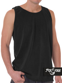 Black Foxfire Loose Fit Tank Top