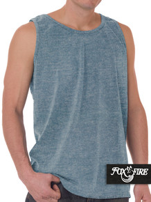 Heather Blue Foxfire Loose Fit Tank Top