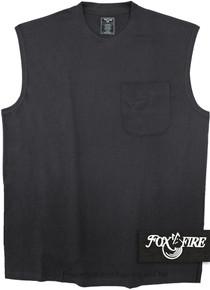 Black Foxfire POCKET Muscle Tee