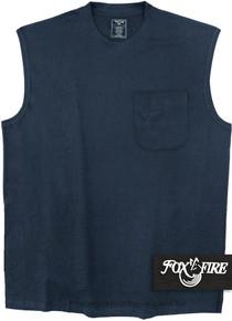 Navy Blue Foxfire POCKET Muscle Tee