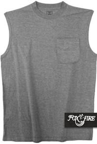 Gray Foxfire POCKET Muscle Tee
