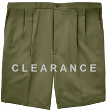 Haggar PLEATED Casual Shorts OLIVE