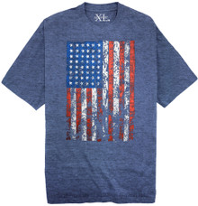 Heather Royal NewportXL Printed T-Shirt LARGE AMERICAN FLAG
