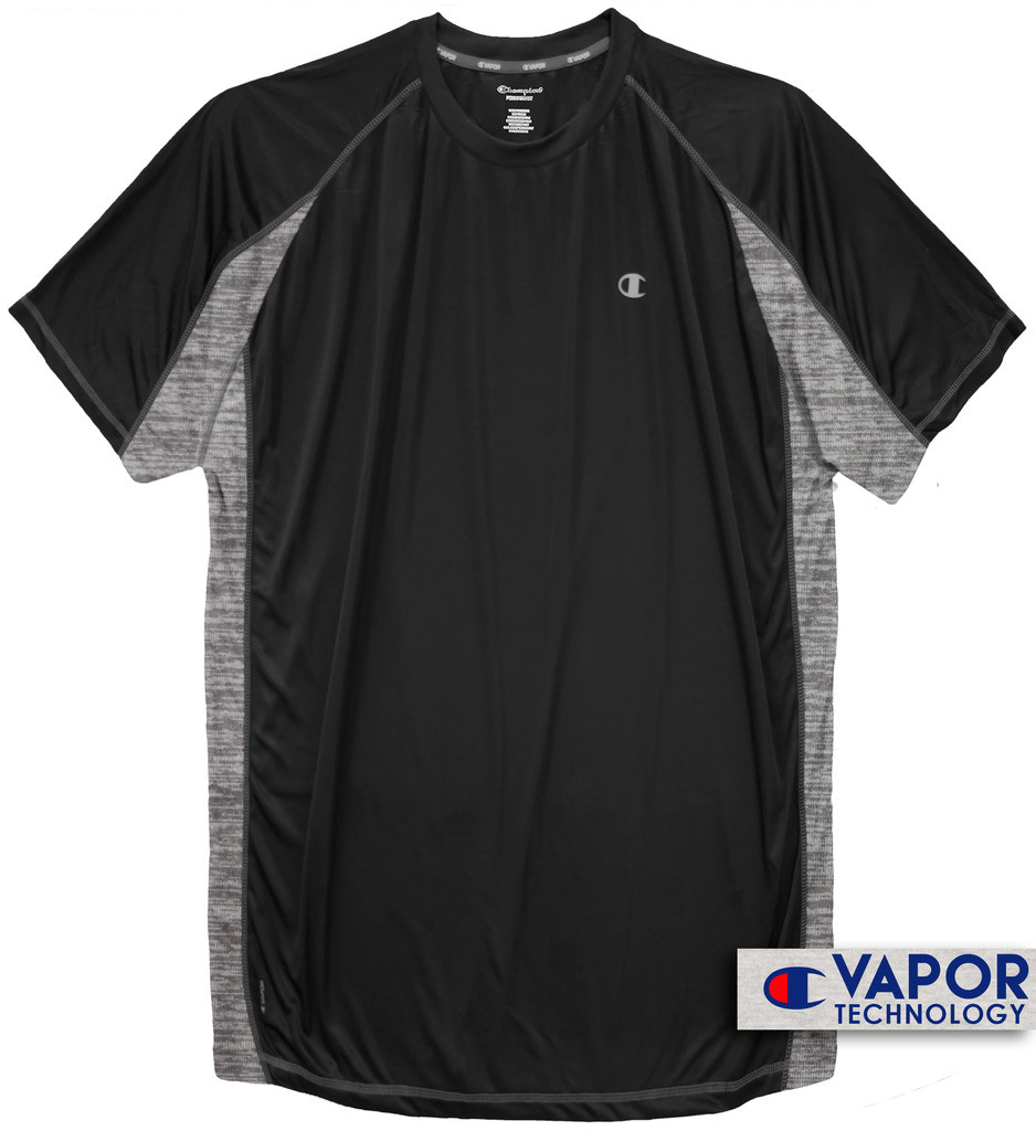 3ad259d1 Black Champion Color Block Performance T-Shirt. Image 2. Image 3. See 2  more pictures