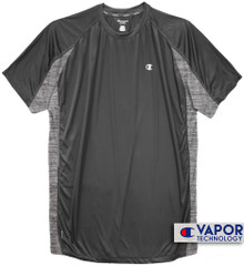 Charcoal Champion Color Block Performance T-Shirt