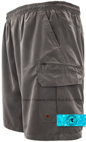 Solid Gray H2O Sport Tech Cargo Swim Trunks