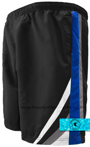 H2O Sport Tech Swim Trunks Chevron BLACK