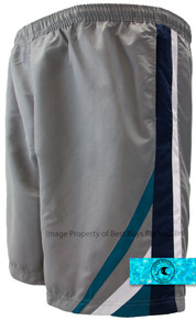 H2O Sport Tech Swim Trunks Chevron GRAY
