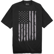 Black NewportX Printed T-Shirt LARGE GRAY FLAG