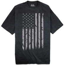 NewportX Printed T-Shirt LARGE GRAY FLAG Heather Navy