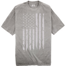 NewportX Printed T-Shirt LARGE GRAY FLAG Heather Gray