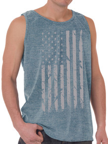 Foxfire GRAY FLAG Printed Tank Top HEATHER BLUE