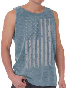 Foxfire GRAY FLAG Printed Tank Top HEATHER BLUE