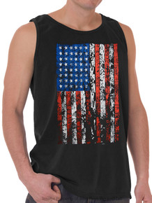 LARGE FLAG Printed Tank Top BLACK