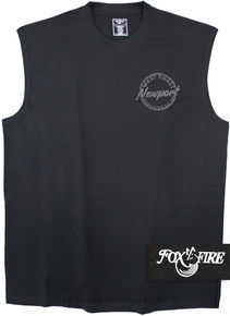 Black Foxfire Printed Muscle Tee COASTAL
