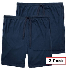 Navy Blue 2-PACK Falcon Bay Jersey Shorts Outside Drawstring