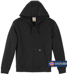 Black Dickies Midweight FLEECE Zip Hoodie